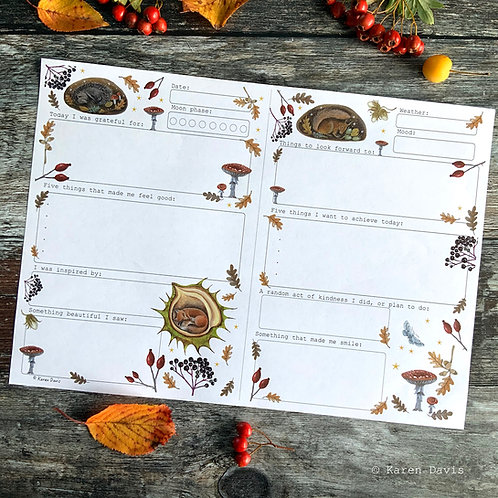 Autumn~Gentle Journal Page. 'DIGITAL DOWNLOAD' PDF File.