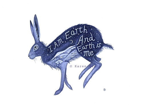 I am Earth. Art Print. A4/189gms