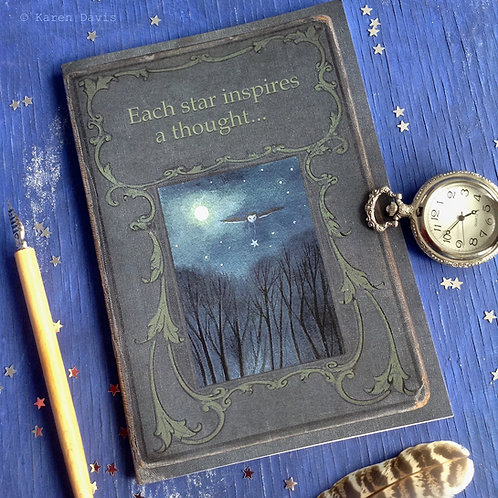 Notebook. Each star inspires a thought. A5 Size