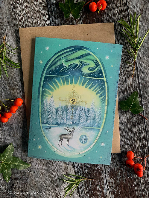 Song to the Sun's Return. Greeting Card x1