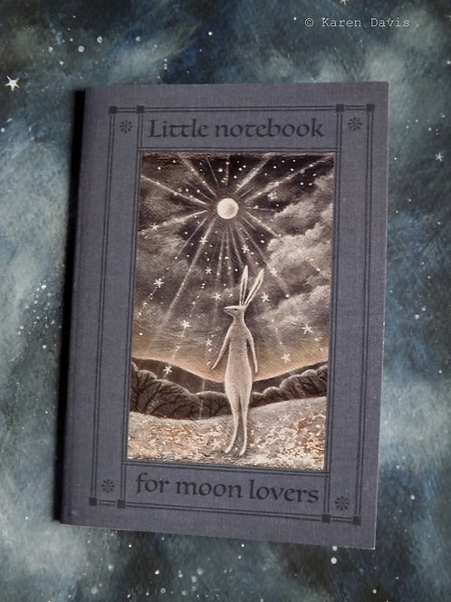 Little Notebook for Moon Lovers. A6 size /36 plain pages.