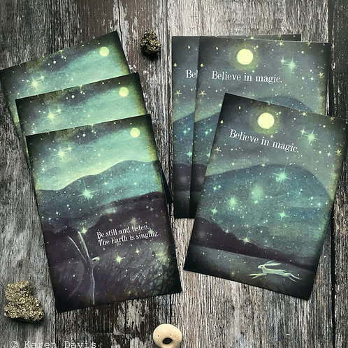 Postcards x6 Be Still and Listen | Believe in Magic