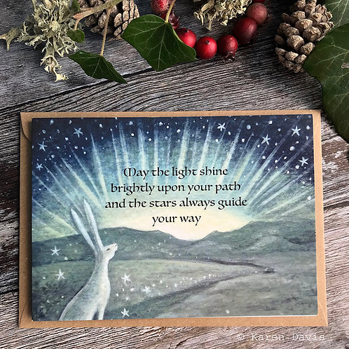 May the Light Shine Brightly Upon Your Path. Greeting Card x1