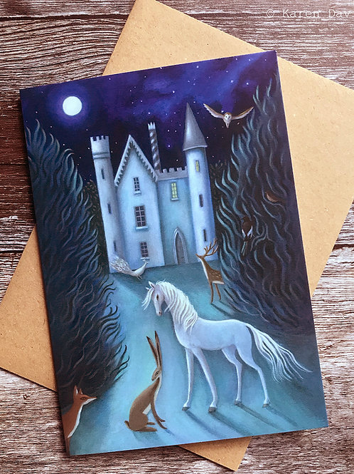 The Moonlit Gathering. Greeting Card x1