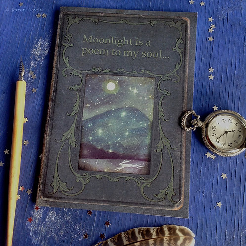 Notebook. Moonlight is a Poem to my Soul. A5 Size.