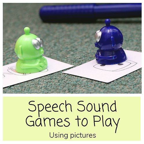 Speech Sounds Games- Using Pictures
