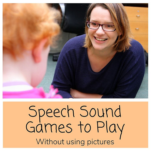 Speech Sounds Games- Without Using Pictures