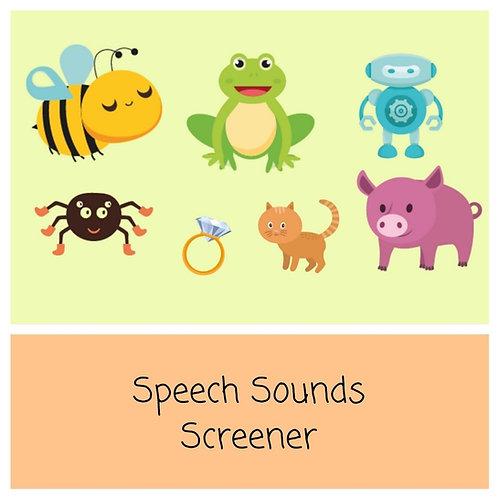 Speech Sounds Screener