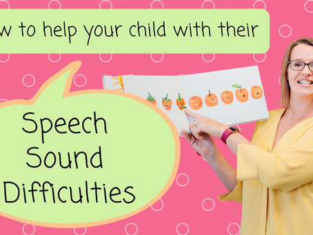 How to help your child with their speech sound difficulties