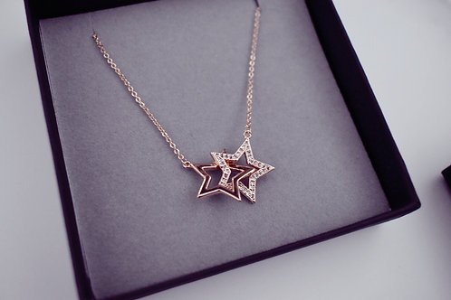 Deluxe Double Star Necklace