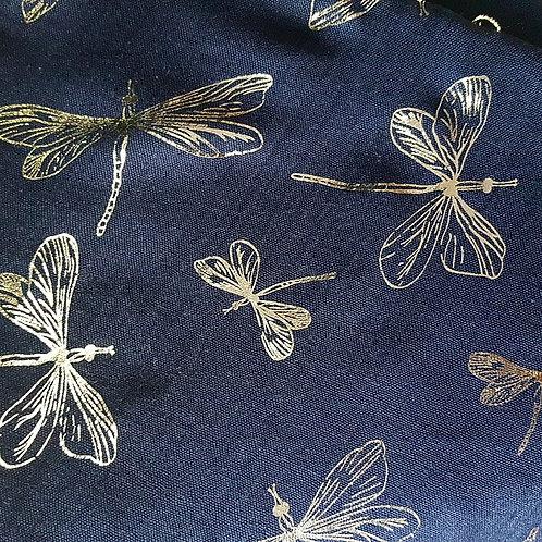 Silver Foil Dragonfly Scarf