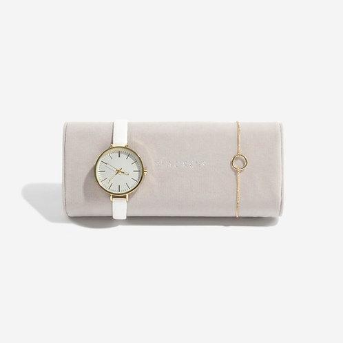 Stackers Grey Velvet watch/bracelet pad