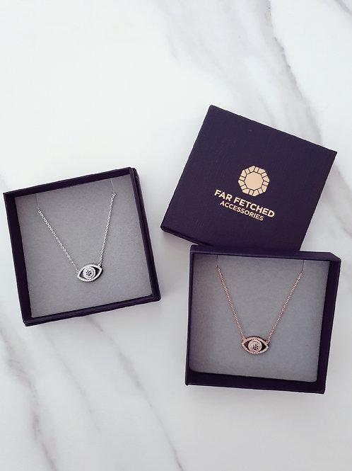 Diamante Evil Eye Necklace