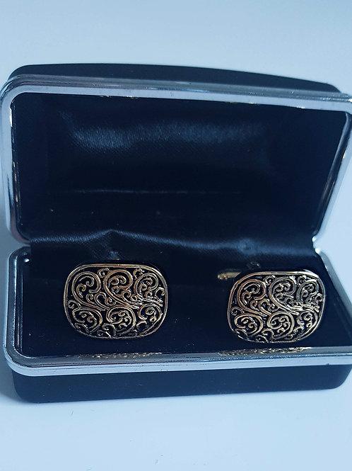 Gold Design Cufflinks - Far Fetched Accessories
