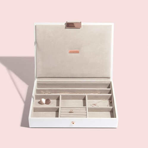 STACKERS™ White & Rose Gold Classic Jewellery Box