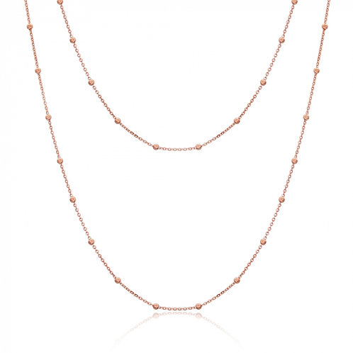 Long Beaded Delicate Chain