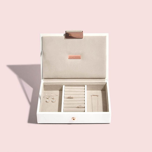 STACKERS™ White & Rose Gold Mini Jewellery Box