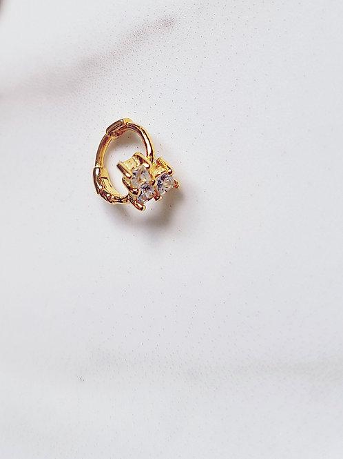 Mabel Diamantè Heart Cuff Earring