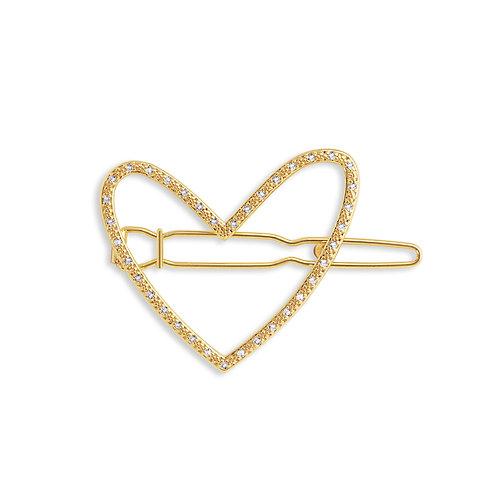 Pave Heart Clip