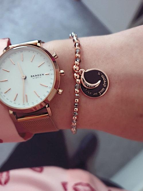 Live as you dream charm bracelet