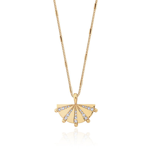 Mayan Fan Necklace