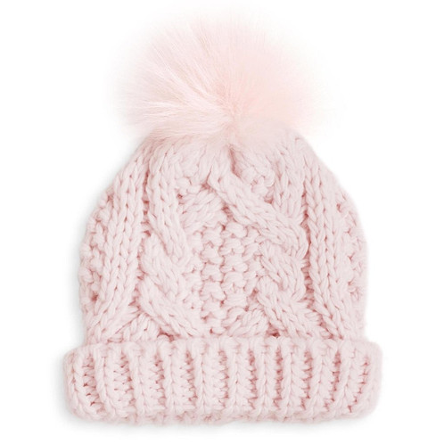 d42ca907e18 Stunning and soft baby bobble cable knit hat s. The perfect baby gift. Each  come in a beautiful Katie Loxton Gift bag. Available in Pale blue