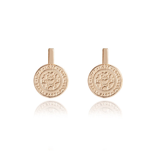 Boho Coin Love Earrings