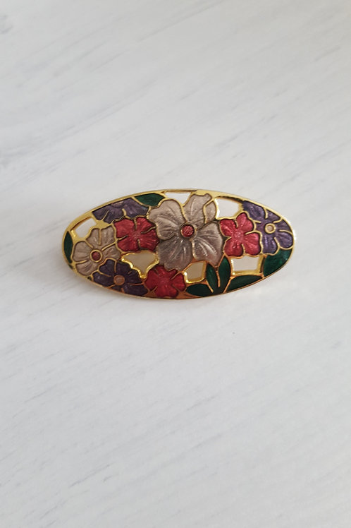 Coloured Flower detail Brooch