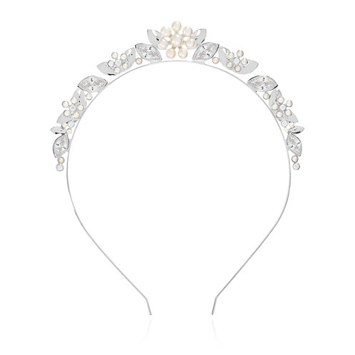 Happy Ever After Pearl Flower & Crystal Hairband
