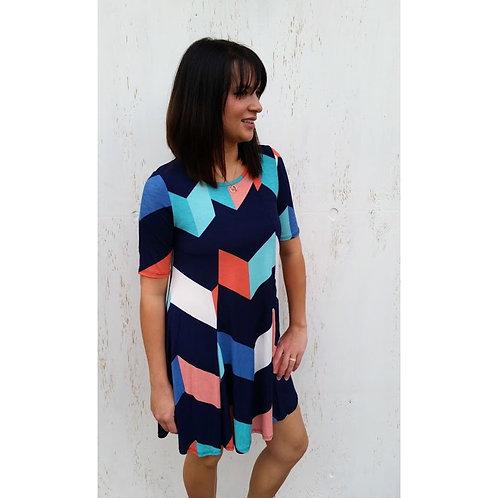 Multicolored ZigZag Dress