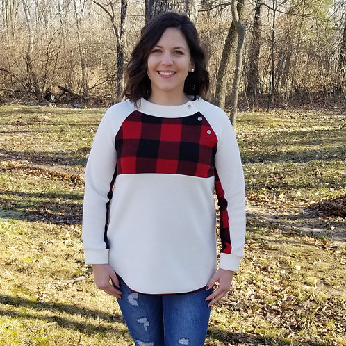 Red Buffalo Plaid Pullover