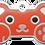 Thumbnail: Bear Grind Enamel Bone Tag