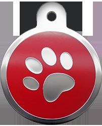 Red Circle Paw (L)