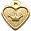 Thumbnail: IP Gold Light Green Glita C + Heart (S)