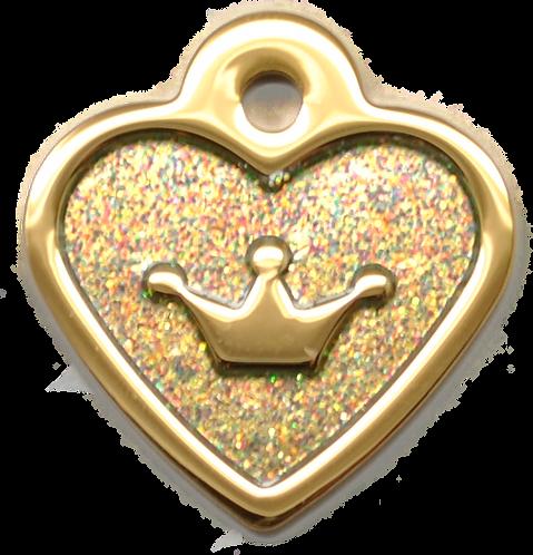 IP Gold Light Green Glita C + Heart (S)