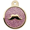 Thumbnail: Mustache Glitter Enamel Circle TARO