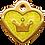 Thumbnail: IP Gold Neon Yellow Glita C + Heart (S)