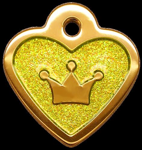 IP Gold Neon Yellow Glita C + Heart (S)