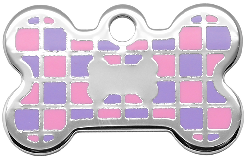 Checker Bone Purple & Pink