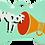 "Thumbnail: Loudspeaker + "" WOOF!! "" slogan Bone Green"