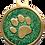Thumbnail: IP Gold Dark Green Glita Circle Paw