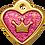 Thumbnail: IP Gold Fushia Glita C + Heart (S)