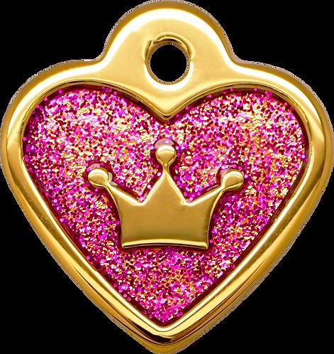 IP Gold Fushia Glita C + Heart (S)