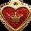 Thumbnail: IP Gold Red Glita C + Heart (S)