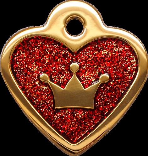 IP Gold Red Glita C + Heart (S)