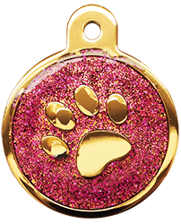 IP Gold Fushia Glita Circle Paw