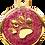 Thumbnail: IP Gold Fushia Glita Circle Paw