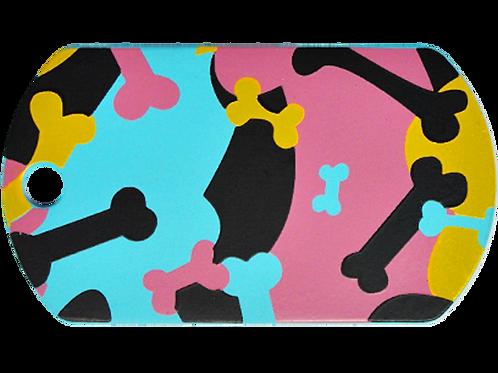 Camouflage Print Military Tag BL/PK (L)