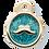Thumbnail: Mustache Glitter Enamel Circle P.BLUE