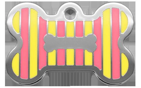 Stripes Bone Yellow & Pink